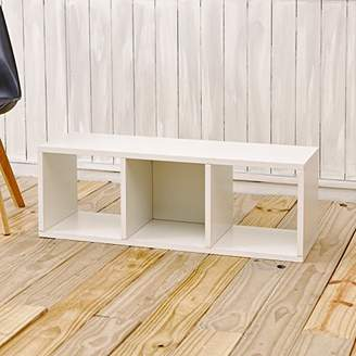 Way Basics Eco 3 Cubby Storage Bench and Stackable Organizer