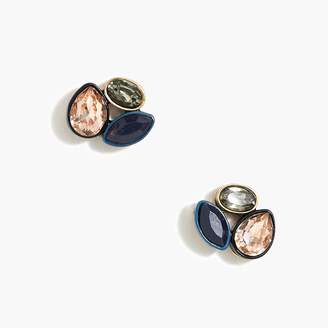 J.Crew Factory Color-cased crystal trio stud earrings