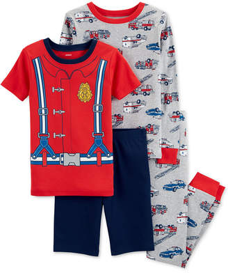 Carter's Little & Big Boys 4-Pc. Firefighter Cotton Pajama Set