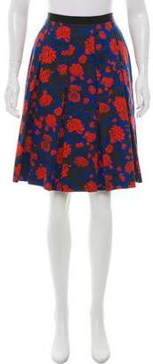 Sophie Theallet Pleated Floral Print Skirt