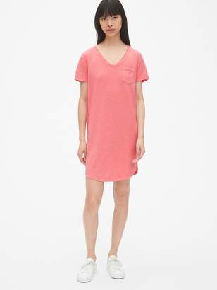 Gap Soft Slub V-Neck T-Shirt Dress