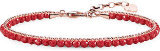 Thomas Sabo Chakra 18ct rose gold-plated coral bracelet