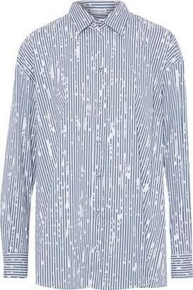 Tomas Maier Painter Striped Cotton-Blend Poplin Shirt