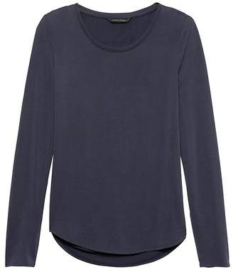 Banana Republic Sandwash Modal Scoop-Neck T-Shirt