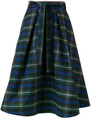 MSGM flared check skirt