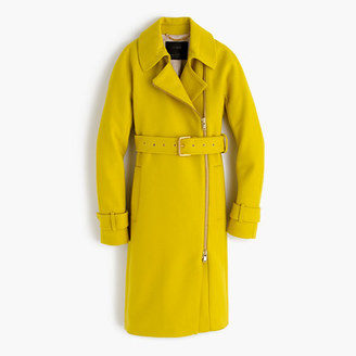Belted zip trench coat in wool melton $398 thestylecure.com