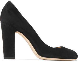 Jimmy Choo Billie 100 Suede Pumps - Black