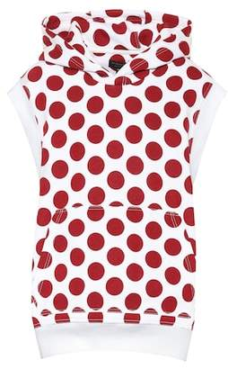 Burberry Sleeveless polka-dot hoodie