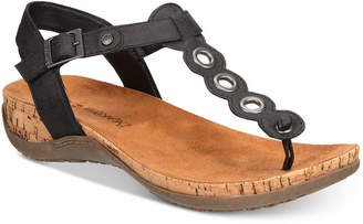 BearPaw Women's Jean T-Strap Sandals Women's Shoes