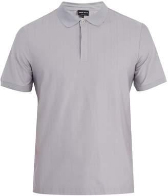 Giorgio Armani Short-sleeved cotton and silk-blend polo shirt