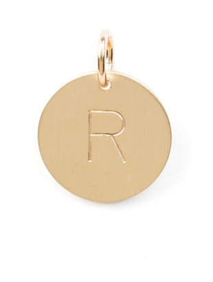 Nashelle R Initial Disc Necklace Charm