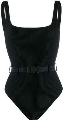 Off-White industrial belt swimsuit