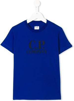 C.P. Company Kids printed logo T-shirt