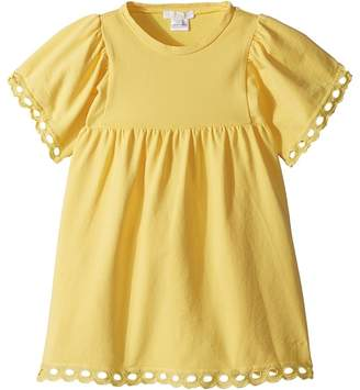 Chloé Kids Milano Short Sleeve Dress with Percale Details Girl's Dress
