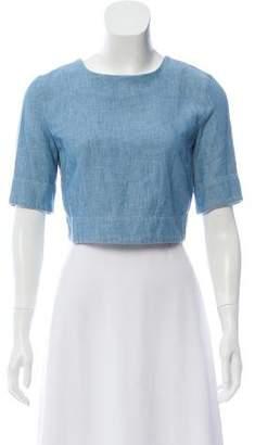 3x1 Short Sleeve Crop Top