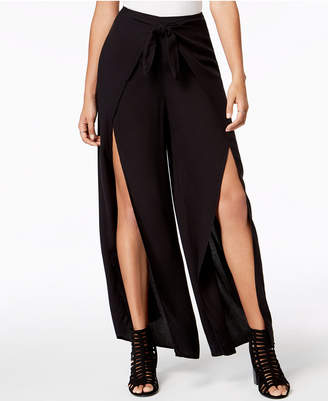 Material Girl Juniors' Wrap-Front Palazzo Pants, Created for Macy's