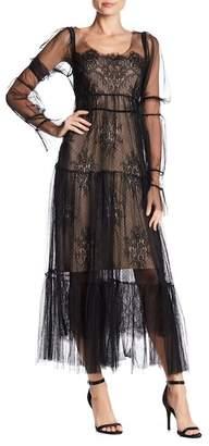 Few Moda Cordella Lace Long Sleeve Maxi Dress