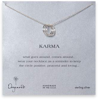 Dogeared Karma Triple Ring Sterling Necklace