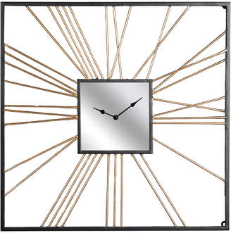 Sagebrook Home Square Gold Metal Mirror Clock