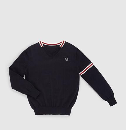 Gucci Kid's Merino Wool V-Neck Sweater