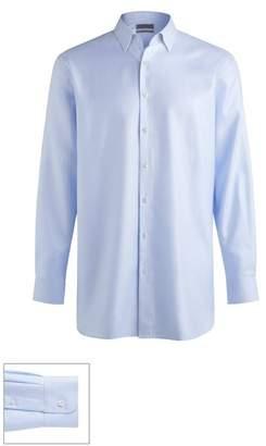 John W. Nordstrom R) Made to Measure Traditional Fit Straight Collar Dobby Herringbone Dress Shirt