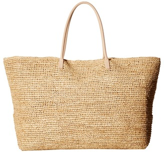 Hat Attack - Luxe Tote with Vachetta Handles Tote Handbags $156 thestylecure.com