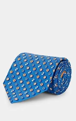 Salvatore Ferragamo Men's Beach-Umbrella-Print Silk Twill Necktie - Lt. Blue