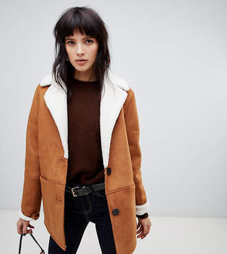 Stradivarius aviator jacket with contrast lining