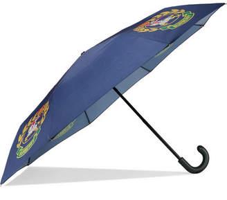 Burberry Printed Shell Umbrella - Navy