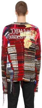 Off-White Off White Oversize Business Casual Wool Sweater