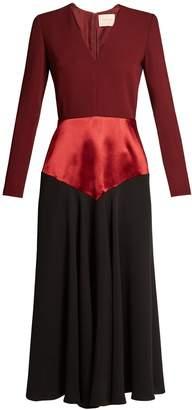Roksanda Hayato V-neck tri-colour dress