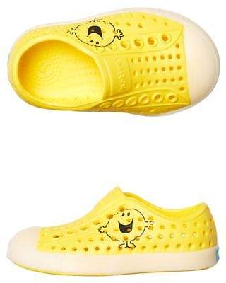 Native New Boys Tots Mr Happy Shoe Rubber Yellow