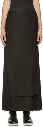 Yohji Yamamoto Black Zippered Wrap Skirt $1,500 thestylecure.com