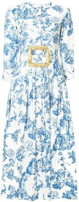Oscar de la Renta 19RN2819FTOBLU BLUE Natural (Veg)->Cotton