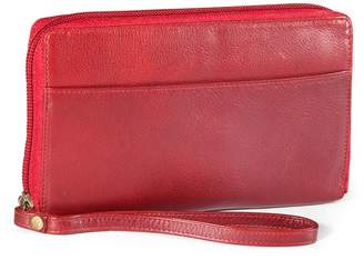 Derek Alexander Leather Zip Wallet
