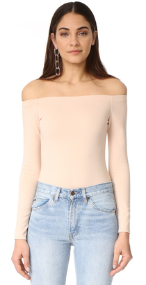 KENDALL + KYLIE Off Shoulder Long Sleeve Bodysuit $95 thestylecure.com