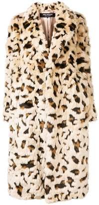 Junya Watanabe leopard pattern fur coat