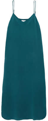 Equipment Dian Washed-silk Midi Dress - Teal