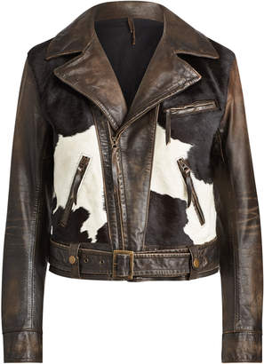 Ralph Lauren Hadley Lined Leather Jacket