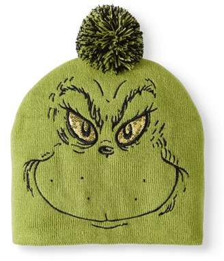 The Grinch Juniors Knitted Beanie with Sequin Eyes and Pom