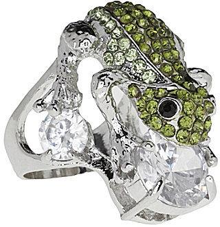 Tivoli Crystal Frog Ring