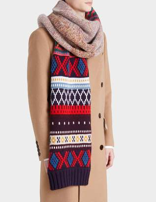 Burberry Knitted Patchwork Scarf in Multicolour Cashmere