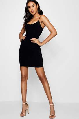 boohoo Strappy Double Layer Bodycon Dress