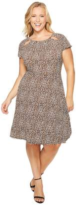 MICHAEL Michael Kors Size Leo Shirred Neck Dress Women's Dress