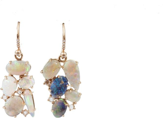Irene Neuwirth JEWELRY Lightening Ridge Opal Earrings