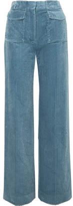 Victoria, Victoria Beckham - Cotton-corduroy Pants - Blue