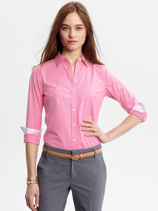 Banana Republic Fitted non-iron Liza striped shirt