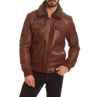 Excelled Leather Leather Midweight Bomber Jacket