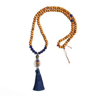 Lapis Zayra Mo Intuition Stimulator Lazuli and Bead Necklace with Buddha Pendant