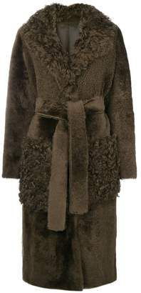 Yves Salomon long shearling coat